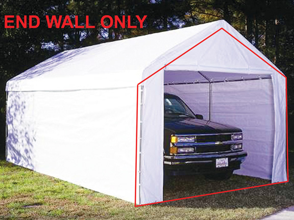 king canopy white canopy endwall with zipper for 10 foot models