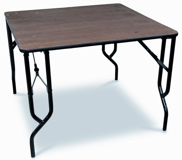 McCourt Square Plywood Folding Table   48 Inch