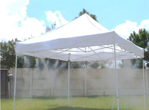 Cool Mister Systems : Mistcooling low pressure misting system tent add on