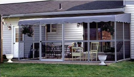Patio-Mate Screened Enclosure - White / Gray Color