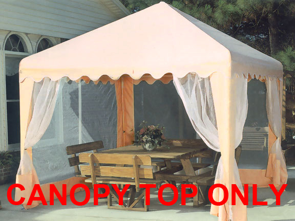 Replacement top with screens for 10x10 garden party canopy for 10x10 in square feet