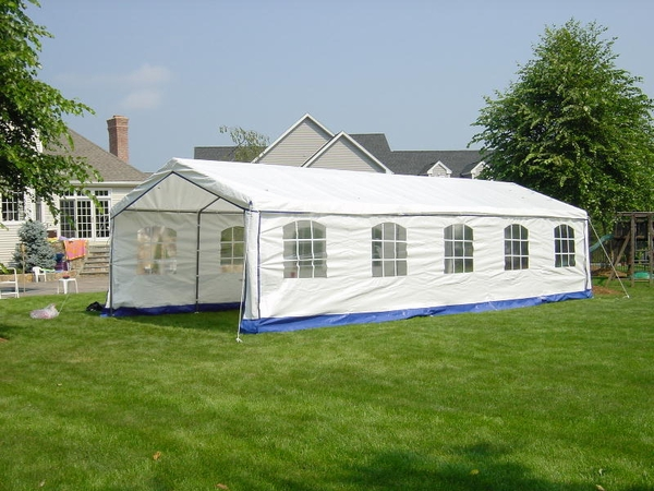 Superbe Rhino Shelter Decorative Backyard Party Tent With Side Walls   14 X 32 X 9