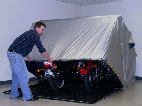 Portable Motorcycle Shelters : Motorcycle storage rhino