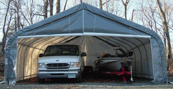 Tarp Shelter Garage : Rhino shelter instant car garage
