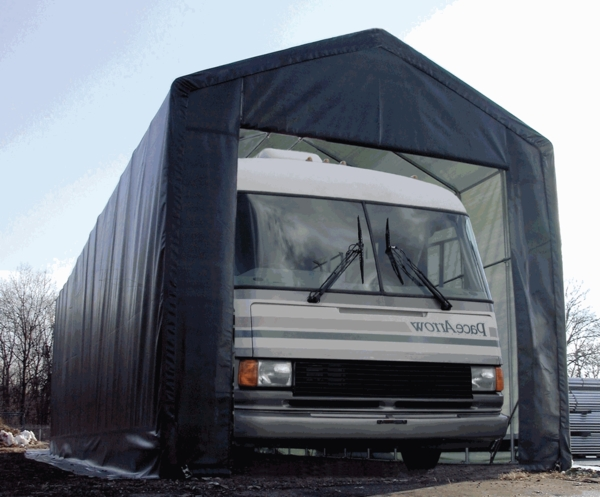 Portable Rv Shelters Metal : Rhino shelter portable rv boat garage