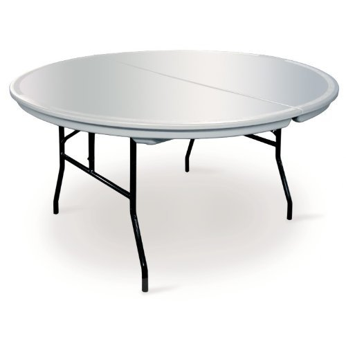 Round Commercialite Plastic Folding Table   60 Inch