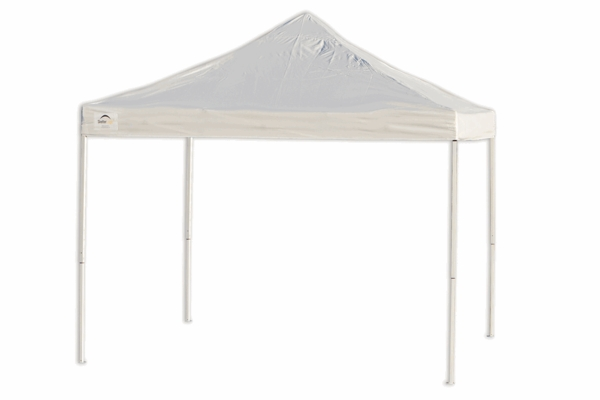 ShelterLogic 10 X White Pop Up Canopy Tent With Truss