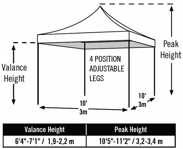 ShelterLogic 10 x 10 White Pop Up Canopy Tent with Truss Ceiling - Pro Series - 22596  sc 1 st  eCanopy.com & 10 x 10 White Pop Up Canopy Tent with Truss Ceiling - Pro Series ...