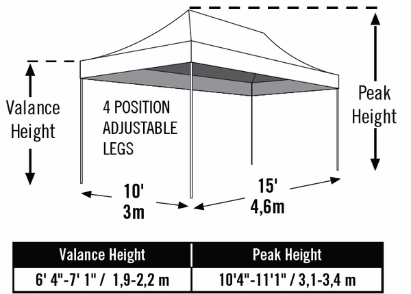 ShelterLogic 10 x 15 White Pop Up Canopy Tent with Truss Ceiling - Pro Series - 22599  sc 1 st  eCanopy.com & 10 x 15 White Pop Up Canopy Tent with Truss Ceiling - Pro Series ...