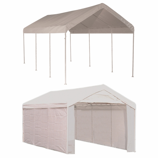 Shelterlogic 10 X 20 Max Ap 8 Leg Canopy With Enclosure