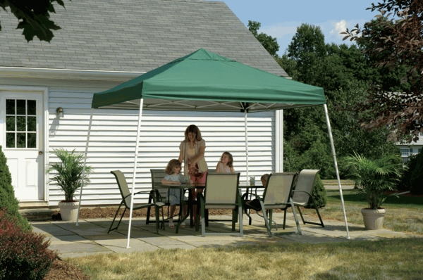 ShelterLogic 12 x 12 Green Pop Up Canopy Tent - Sports Series - 22589 & 12 x 12 Green Pop Up Canopy Tent - Sports Series - 22589
