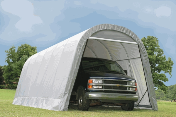 Shelterlogic 12 X 24 X 10 Round Portable Garage Canopy 74332