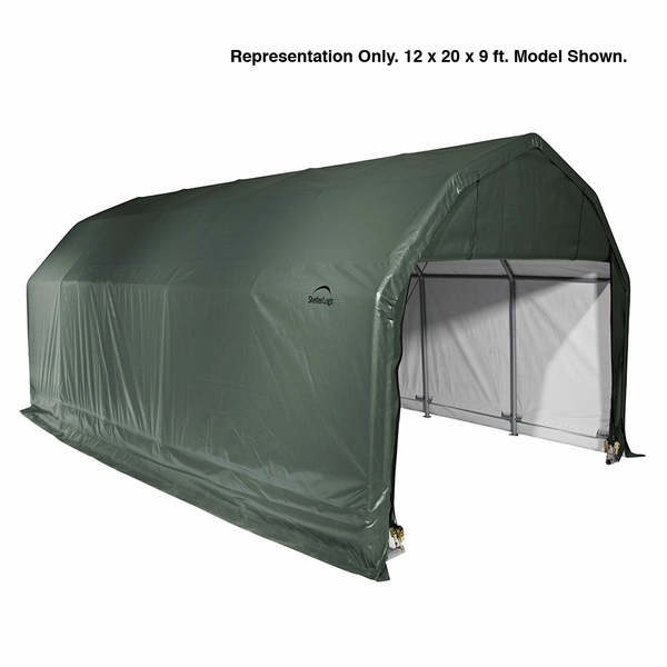 ShelterLogic 12 x 24 x 11 Barn Style Portable Garage Canopy - Green - 90154  sc 1 st  eCanopy.com & 12 x 24 x 11 Barn Style Portable Garage Canopy - Green - 90154