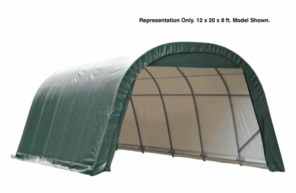 Shelterlogic 12 X 24 8 Round Portable Garage Green Tents  sc 1 st  Garage Design Ideas & pop up garage tent - Garage Design Ideas