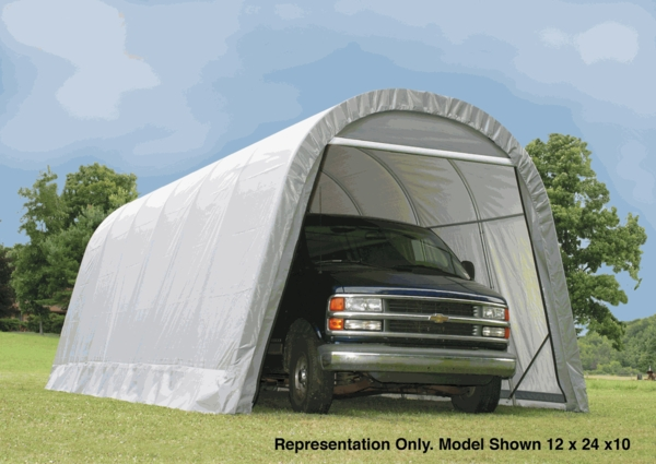 12 28 Garage : Shelterlogic round portable garage canopy