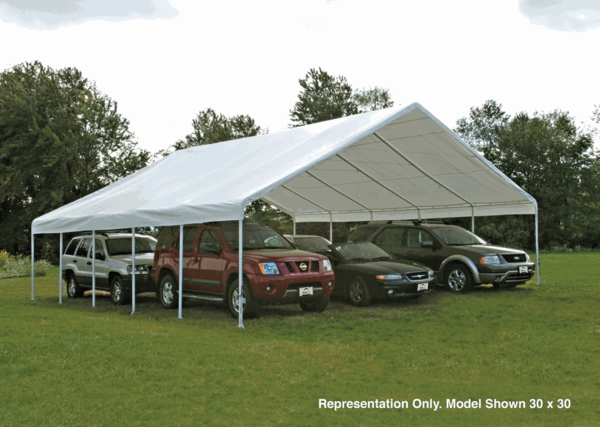 Shelterlogic 30 x 40 ultra max industrial frame canopy for 30 x 40 carport