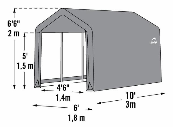 shelterlogic 6 x 10 instant storage shed canopy 70403