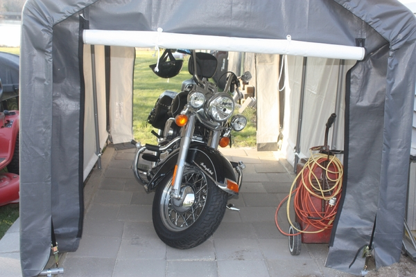 ShelterLogic 6 x 10 Instant Storage Shed Canopy - 70403 : motorcycle canopy - memphite.com