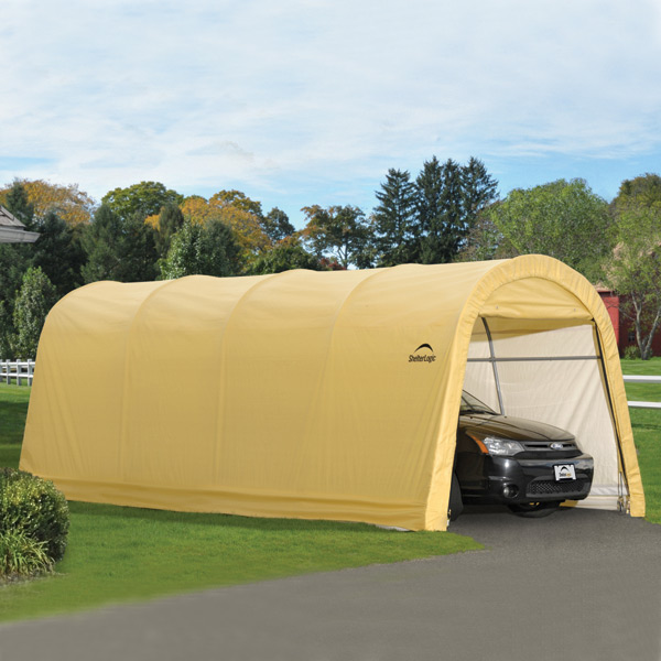 Instant Garage Replacement Covers : Shelterlogic autoshelter round style portable garage