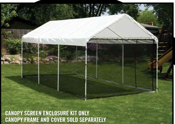 ShelterLogic Black Screen Kit for 10 x 20 Canopy - 1-3/8\