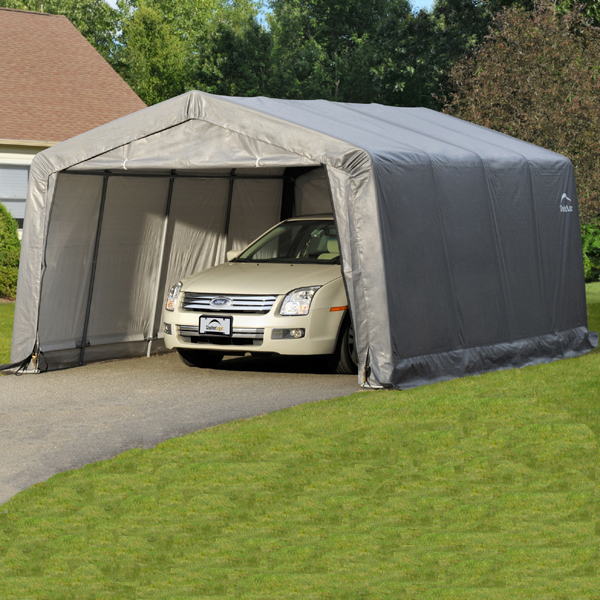 Shelterlogic garage in a box peak style portable storage 16 car garage