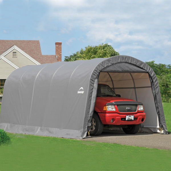 20 Portable Storage : Shelterlogic garage in a box round style portable storage