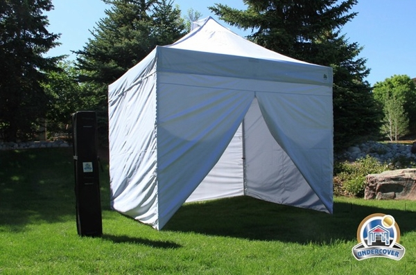 Undercover 10 x 10 Commercial Popup Canopy with Carry Bag + Four Sidewalls : canopy commercial - memphite.com
