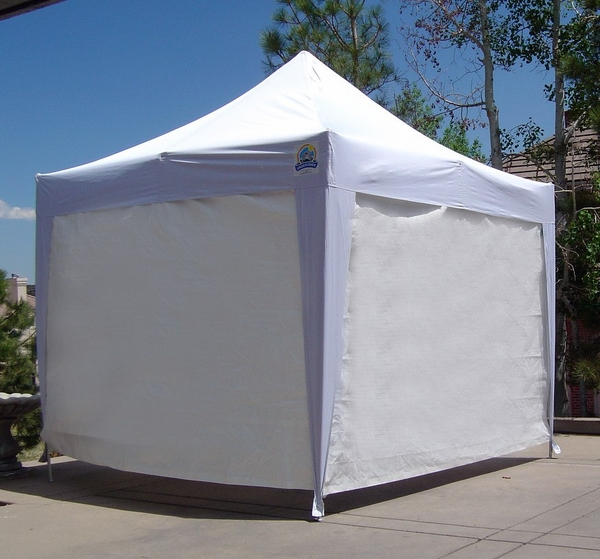 Undercover 10u0027 x 10u0027 Super Lightweight Commercial Aluminum Popup Shade Canopy Package with 4 Sidewalls & 10u0027 x 10u0027 Super Lightweight Commercial Aluminum Popup Shade Canopy ...