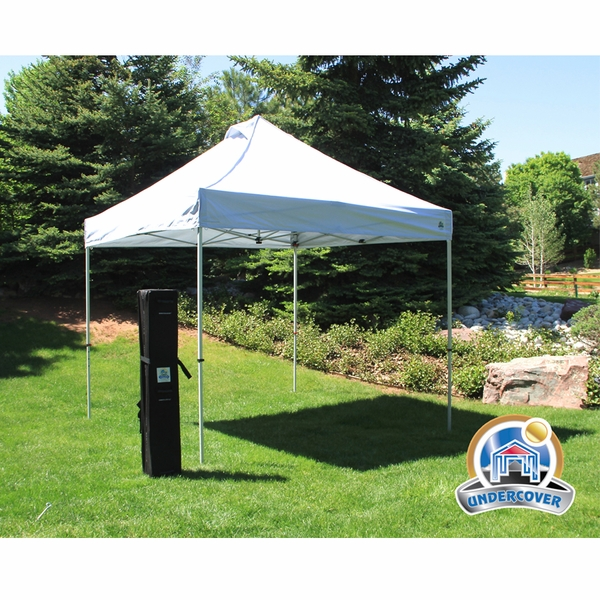 undercover 10u0027 x 10u0027 super lightweight canopy package with white top - 10x10 Canopy Tent