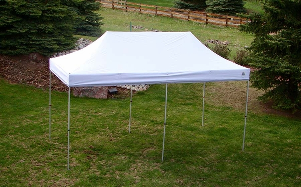 Undercover 10 x 20 Hybrid Popup Shade Canopy Package with White Top & 10 x 20 Hybrid Popup Shade Canopy Package with White Top
