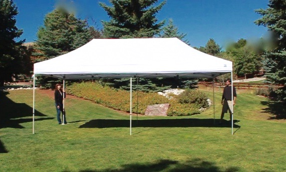 Ez Up Canopy 10x20 >> Undercover 10 X 20 Hybrid Popup Shade Canopy Package With White Top