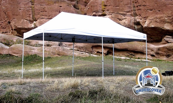 undercover 10 x 20 hybrid popup shade canopy package with white top - 10x20 Pop Up Canopy
