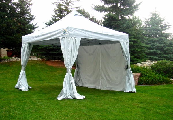 undercover 10x10 r2 vending aluminum frame instant canopy with crs enclosure uc2r10crs - Instant Canopy