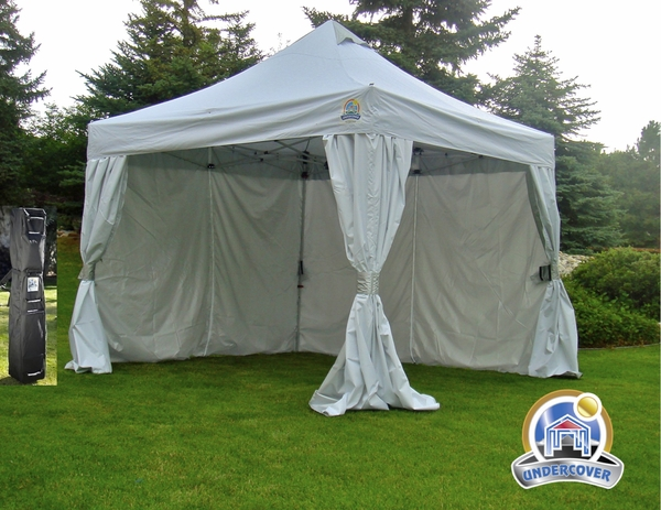 Undercover 10x10 R 2 Professional Vending Aluminum Frame Instant Canopy With Crs Enclosure Uc 2r10crs