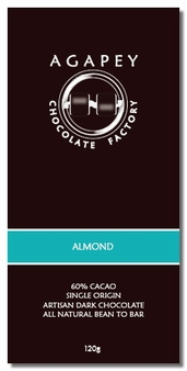 Agapey Almond 60% Cacao 120g (Pack of 12)