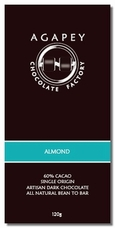 Agapey Almond 60% Cacao 120g (Pack of 6)