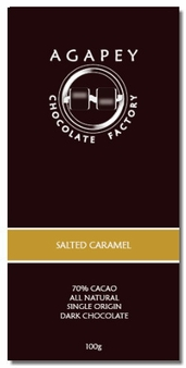 Agapey Salted Caramel 70% Cacao 100g (Pack of 6)