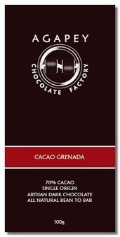 Agapey Cacao Grenada 70% Cacao 100g (Pack of 6)