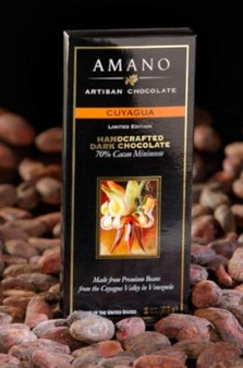 Amano Cuyagua 70% Cocoa, Dark Chocolate Bar, Limited Edition, 2oz / 56g (6 Pack)