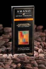 Amano Dos Rios 70% Cocoa, Dark Chocolate Bar, 2oz / 56g (12 Pack)