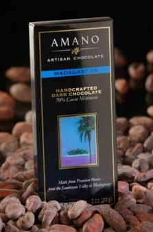 Amano Madagascar 70% Cocoa, Dark Chocolate Bar, 2oz / 56g (6 Pack)