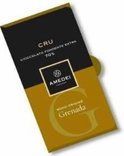 Amedei Cru Grenada Extra Dark Chocolate Bar, Single Origin, 70% Cocoa, 50g/1.75oz (Single)