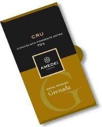 Amedei Cru Grenada Extra Dark Chocolate Bar, Single Origin, 70% Cocoa, 50g/1.75oz (12 Pack)
