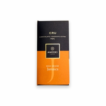 Amedei Cru Jamaica Extra Dark Chocolate Bar, Single Origin, 70% Cocoa, 50g/1.75oz (6 Pack)