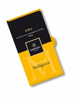 Amedei Cru Madagascar Extra Dark Chocolate Bar, Single Origin, 70% Cocoa, 50g/1.75oz (12 Pack)