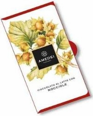 Amedei Milk Chocolate with Hazelnuts Chocolate Bar, 50g/1.75oz (Single)