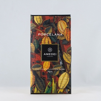 Amedei Porcelana Extra Dark Chocolate Bar, 70% Cocoa, 50g/1.75oz (6 Pack)