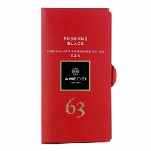 Amedei Toscano Black 63% Extra Dark Chocolate Bar, 50g/1.75oz (Single)