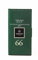 Amedei Toscano Black 66% Extra Dark Chocolate Bar, 50g/1.75oz (Single)