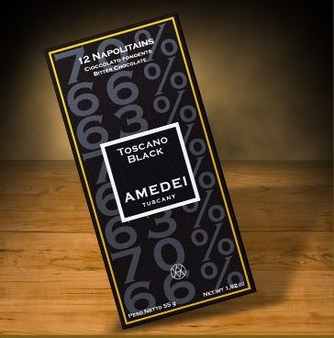 Amedei Toscano Black Napolitains, 12 Squares, 63%, 66% and 70% Cocoa, 55g/1.92oz. (Single)